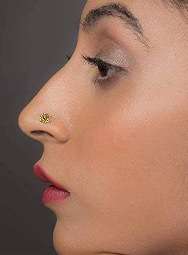 amazoncom unique indian nose ring stud  yellow