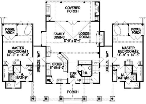 house plans with dual master suites dual master bedrooms