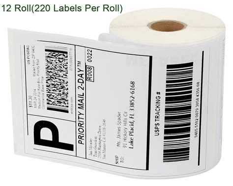 rolls thermal shipping labels  compatible dymo xl