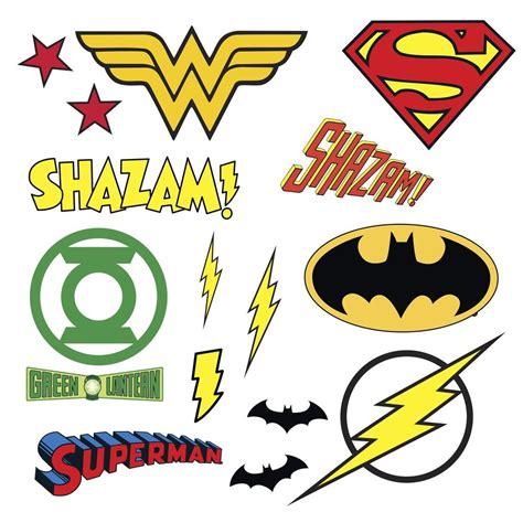 Dc Comics Superhero Logos 16 Wall Decal Superman Batman. Modern Graffito Murals. Closet Door Decals. Lupus Signs. Kitten Signs Of Stroke. Al Thor Banners. Comfort Signs. Little Man Banners. Cinderella Murals