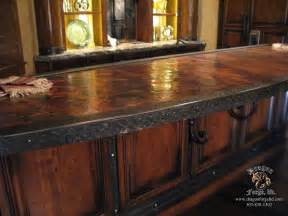handmade kitchen island copper countertop brown hairs