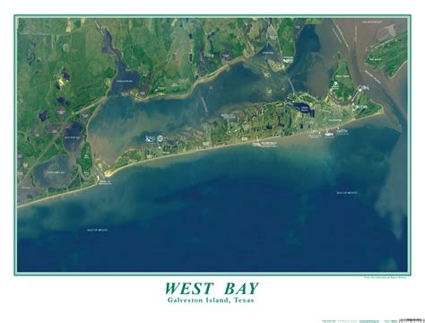 West Bay Galveston Island, Texas satelite photo