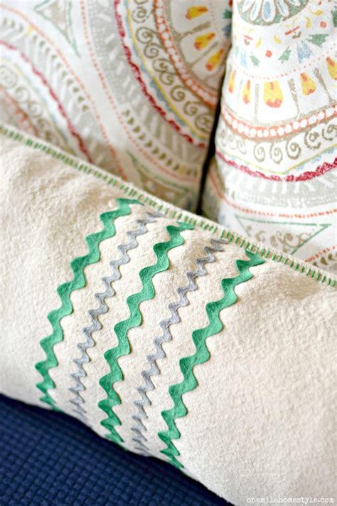 cloth drop pillows easy pillow trim behind