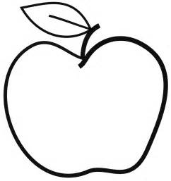 Simple Line Drawing Apple