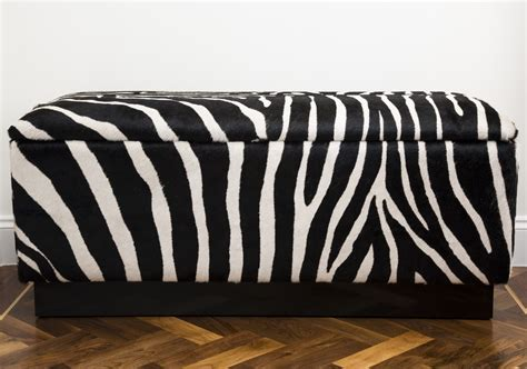 Zebra Storage Ottoman by Complete Your Safari Themed Home Decor With Animal Print