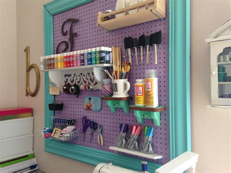 Craft Room Organization With A Framed Pegboard Southern