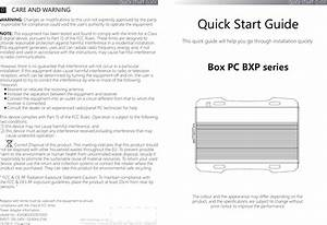 Qbic Technology Bxp300 Box Pc User Manual Bxp 3x Hw Qsg En