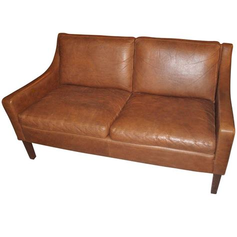 Small Modern Loveseat by Modern Small Scale Loveseat Upholstered In Leather