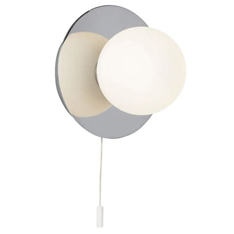 endon enluce orb wall light fitting with pull string chrome el 392 1ch at victorian