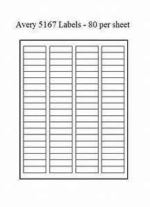 avery 5167 labels ebay With avery labels template 5167