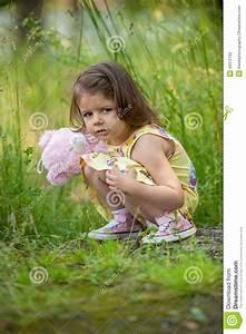 Sad Girl With Teddy Bear Stock Photo - Image: 45372162