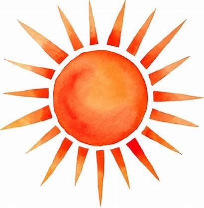 Sun Watercolor Summer Transparent Cartoon Background Clipart