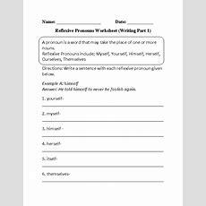 Reflexive Pronouns Worksheets  Writing Reflexive Pronouns Worksheet