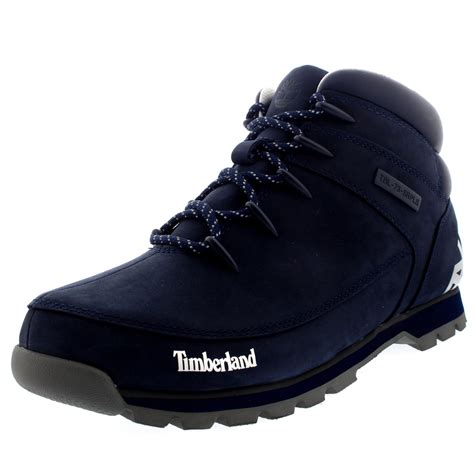kickers boots mid cut mens timberland sprint hiker black iris leather