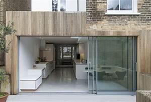 extension maison bois moderne et fonctionnelle With agrandissement maison toit plat