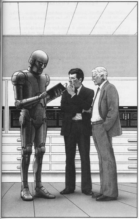 Ralph McQuarrie positronic robots Illustrations for Isaac