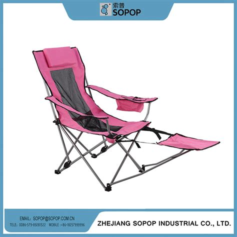hot selling adjustable folding beach chair with footrest