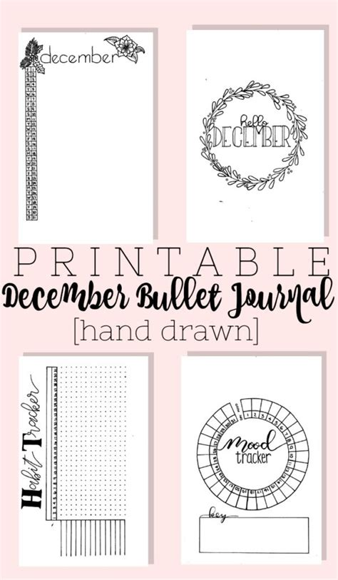 christmas planner printables printable december bullet journal layout the planner