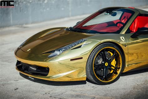 golden ferrari wallpaper black and gold ferrari 8 free hd wallpaper