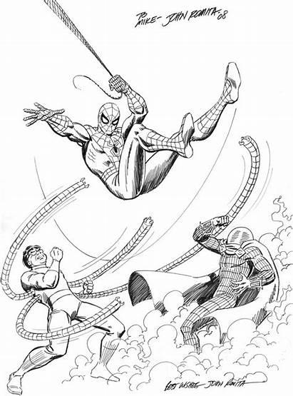 Romita John Sr Mysterio Comic Octopus Marvel