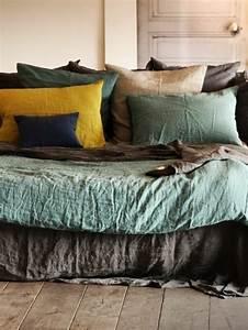 Lit En Solde : linge de lit en lin soldes ~ Teatrodelosmanantiales.com Idées de Décoration