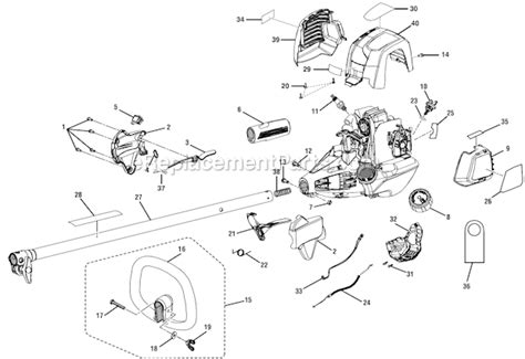 Ryobi Ry34005 Parts List And Diagram
