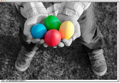 photoshop select color selective coloring effect in photoshop