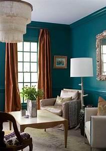 Bleu Vert D Eau : 1001 id es d co salon bleu canard paon p trole du ~ Preciouscoupons.com Idées de Décoration