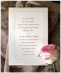 Formal wedding invitation wording etiquette parte two for Samples of formal wedding invitations