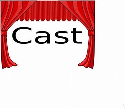 Cast Title Clipart Clip Theater Cliparts Vector