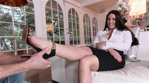Legs Of Brunette Milf Get Licked And Covered With Cum