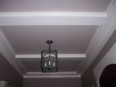 Beadboard Vaulted Ceiling : Beadboard And Crown Moulding In A Tray Ceiling