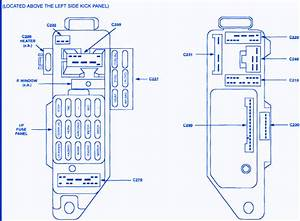 Ford Escort Lx 4 2000 Tail Light Fuse Box  Block Circuit Breaker Diagram