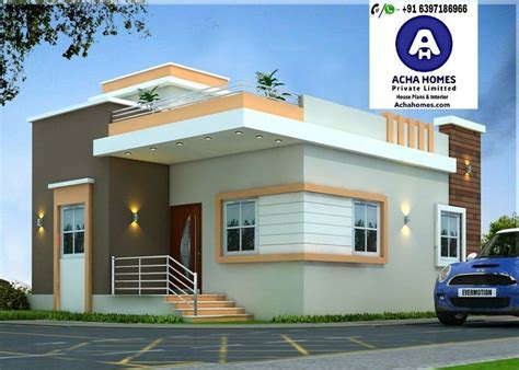 List Of 800 Square Feet 2 Bhk Modern Home Design  Homes