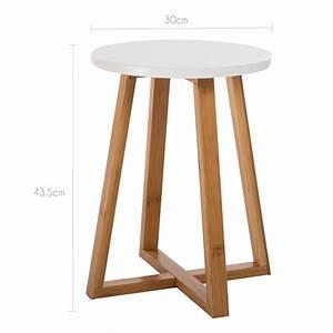 Table D Appoint Blanche : table d 39 appoint ronde skandi commandez nos tables d 39 appoint rondes skandi design rdv d co ~ Teatrodelosmanantiales.com Idées de Décoration
