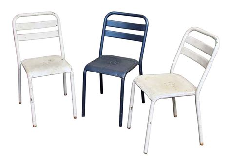 white metal bistro chairs made by tolix olde things