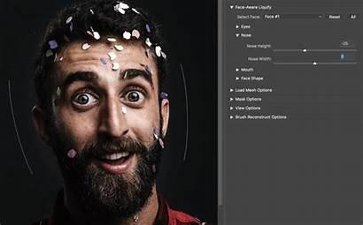 Photoshop Face Liquify Adobe Aware Facial Features