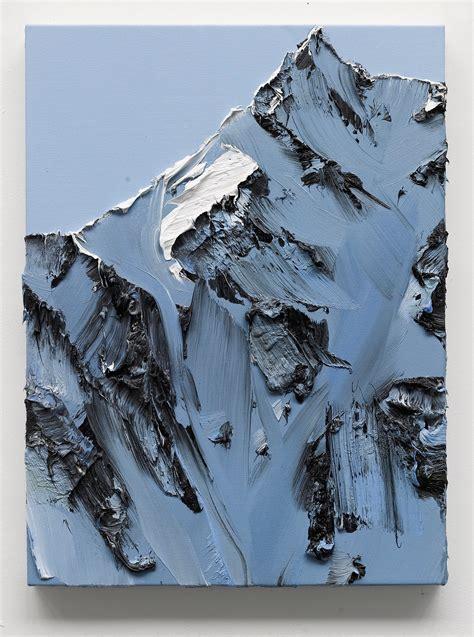 conrad jon godlys mountain paintings drip   canvas colossal