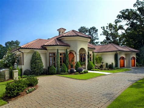 tuscan mediterranean house plans  story waterfront plan style floor home spanish italian