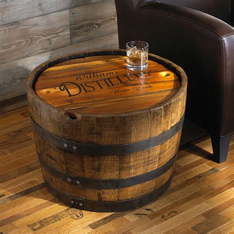 personalized whiskey barrel table wine enthusiast