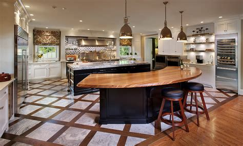 curved island kitchen designs zebrawood bar top in kentucky