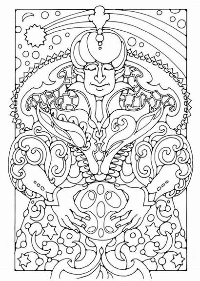 Coloring Magician Pages Printable