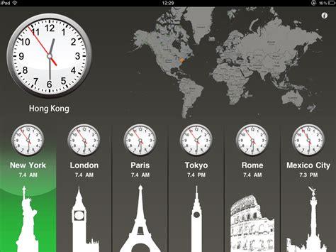 world clock hd ipad thumbsoft appchatter iphone ipad ipod