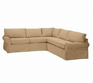 pb basic 2 piece l shaped sectional slipcover textured With 2 piece sectional sofa slipcovers