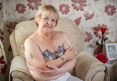 great grandmother  beautiful lace bra tattooed