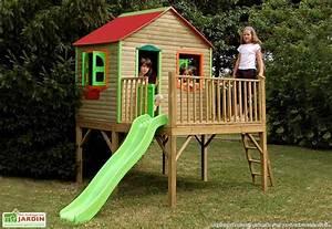 Maison En Bois Enfant : maison en plastique enfant cabanes abri jardin ~ Nature-et-papiers.com Idées de Décoration