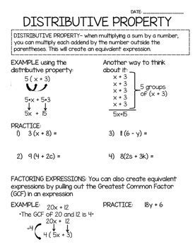 6th Grade Guided Math Notes - Alligned to Common Core