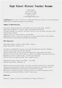 history major resume resume sles high school history resume sle