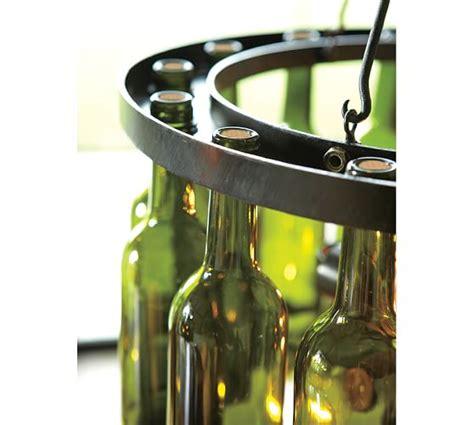 wine bottle chandelier for sale wine bottle chandelier pottery barn