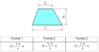 formel fläche kreis station trapez